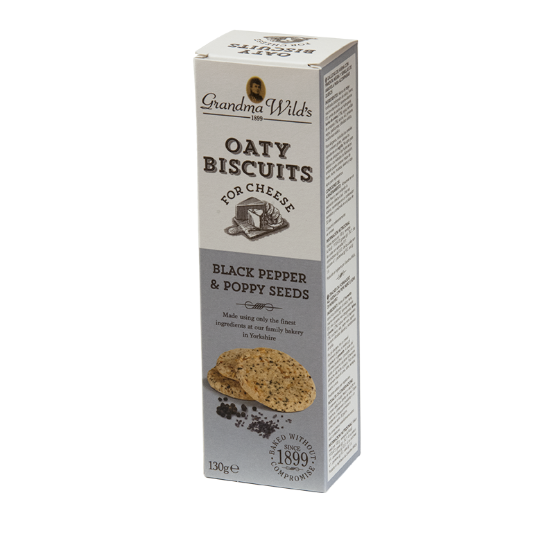 Oaty Biscuits for Cheese with Black Pepper Poppy seeds